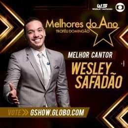 """Wesley Safadão concorre como melhor cantor no prêmio """"Melhores do Ano"""", do Domingão do Faustão; vote"""