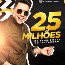 25 milhões de seguidores: Wesley Safadão ratifica marca de cantor brasileiro mais seguido no Instagram